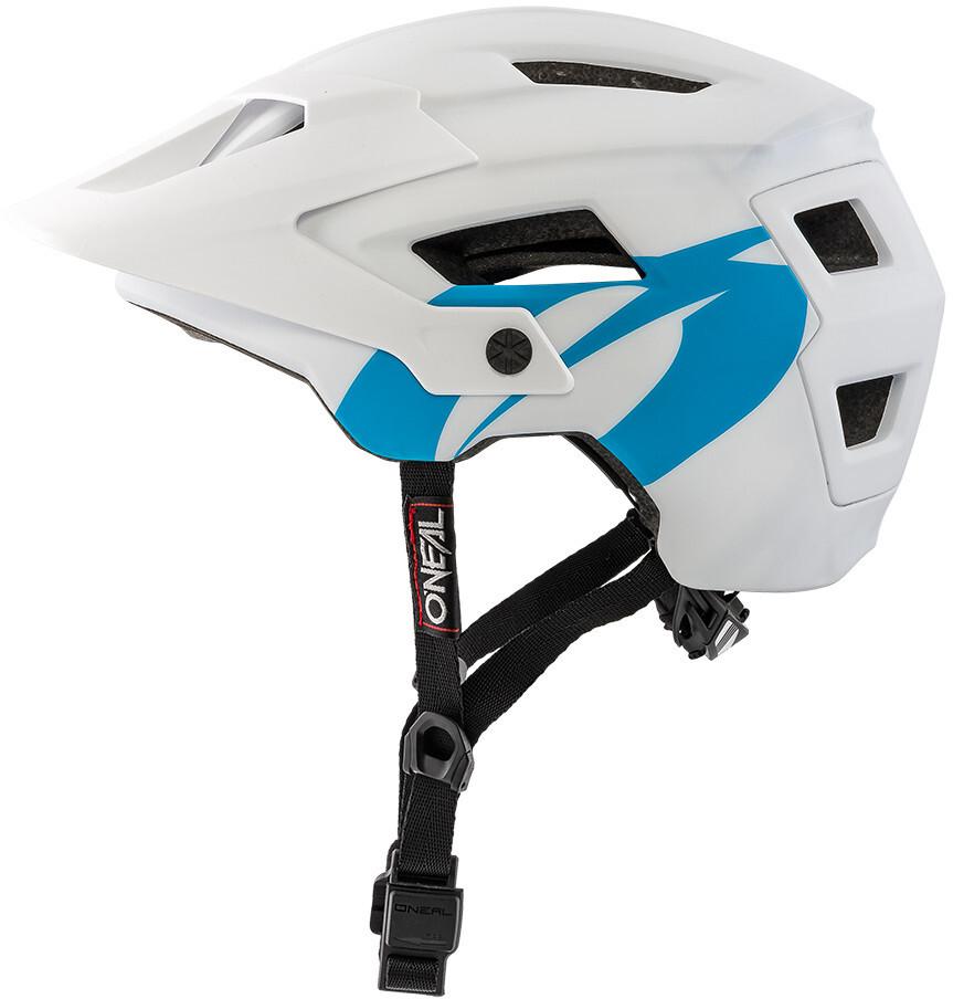 42b83dd2126c9 ONeal Defender 2.0 casco per bici blu bianco su Bikester